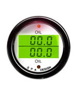 SPA Design Digital Dual Gauge - Oil Pressure / Oil Temperature