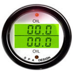 SPA Design Digital Dual Gauge - Oil Temperature / Oil Temperature