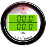 SPA Design Digital Dual Gauge - Fuel Pressure / Oil Pressure